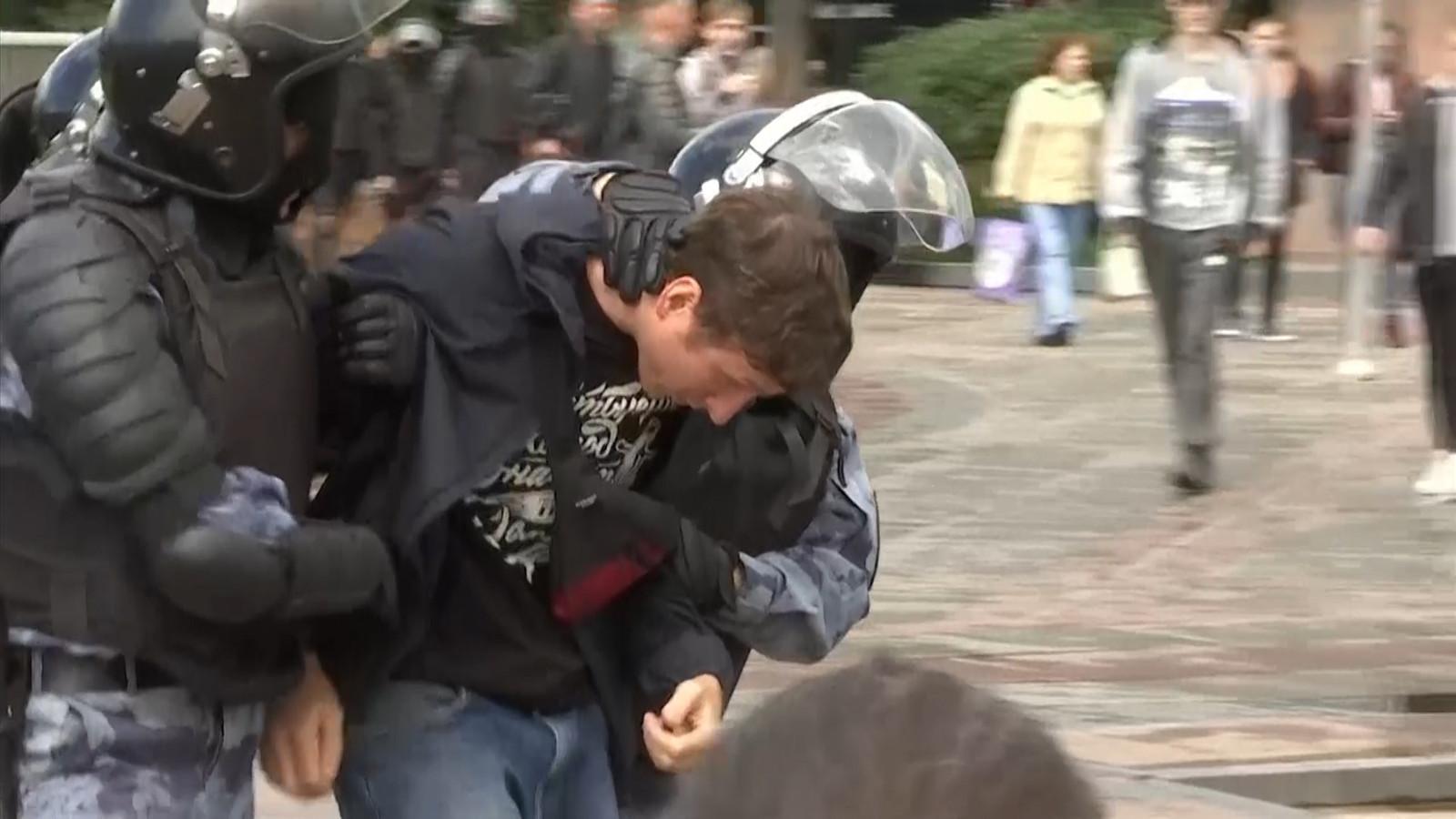 De arrestaties in Moskou