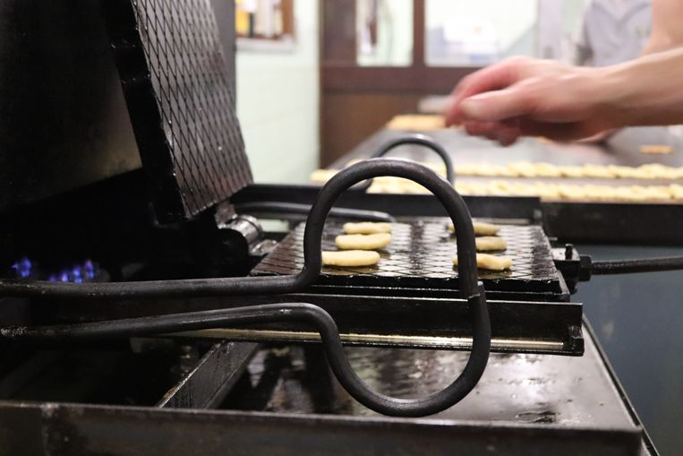 Een lukkenijzer dat bakker Dedrie speciaal liet maken.