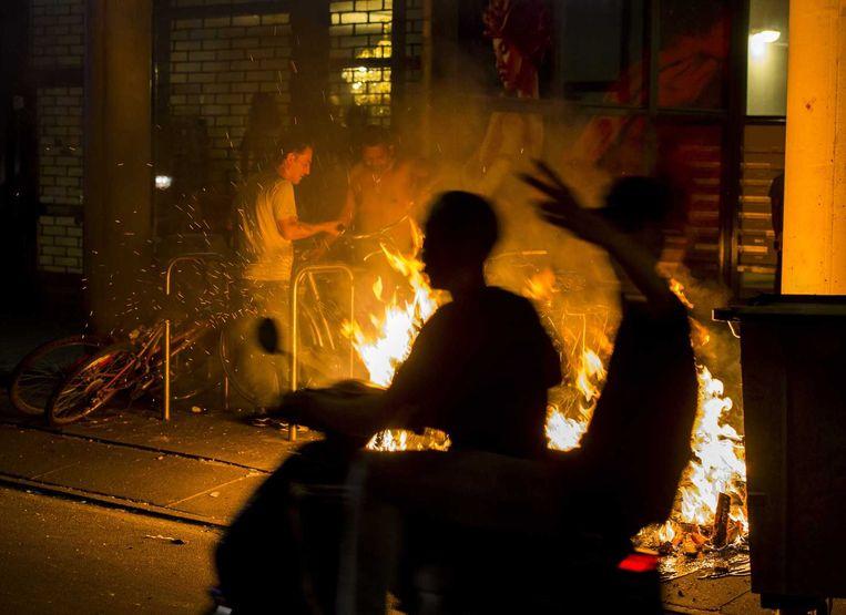 Rellen in de Haagse Schilderswijk begin juli dit jaar. Beeld null