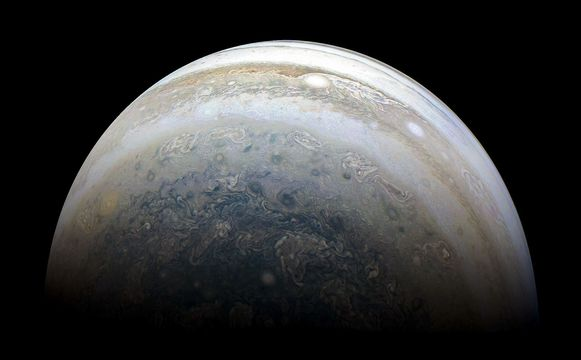 De zuidelijke hemisfeer van Jupiter