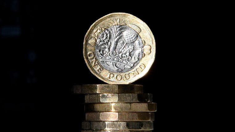 De nieuwe pond-munt. Beeld afp