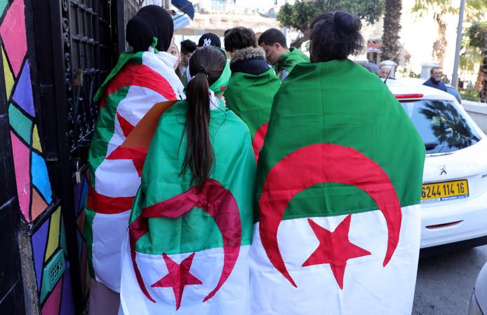 Foto ter illustratie. Algerijnse jongeren tijdens een protest in El Oued in februari van dit jaar.