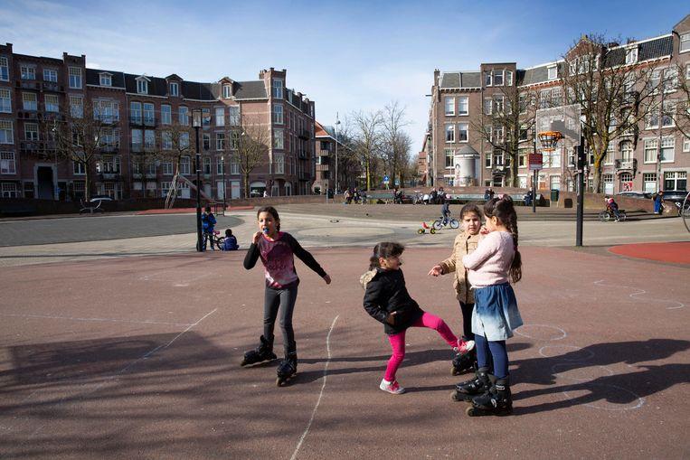 Het Steve Bikoplein in Amsterdam.  Beeld Werry Crone
