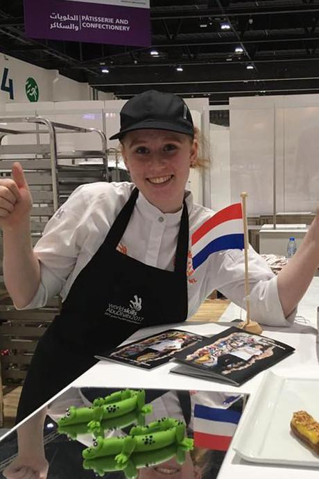 Geen podiumplek voor Rotterdamse bakker Iris in Abu Dhabi
