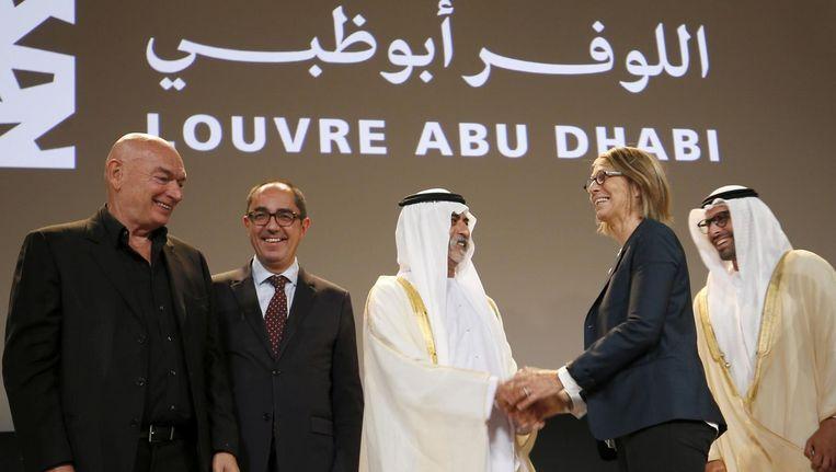Plechtigheid ter gelegenheid van de aankondiging van de opening van het Louvre in Abu Dhabi Beeld afp