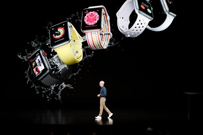 Tim Cook onthult de nieuwste Apple Watch 4