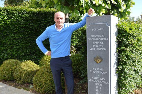 François De Leeneer uit Pollare trekt dit jaar al voor de zevende keer naar Santiago de Compostela.
