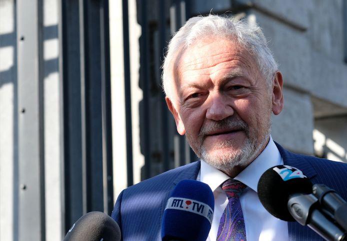 François Bellot à son arrivée au palais d'Egmont, le 3 juin 2020.