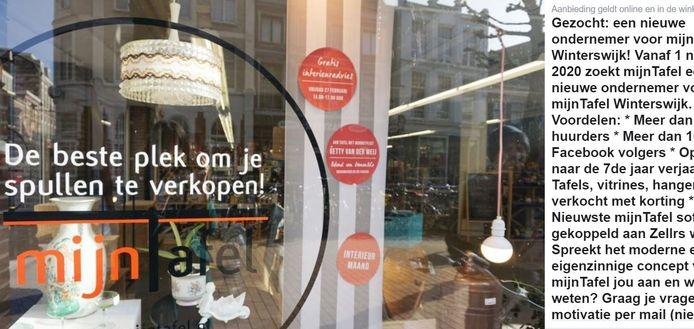 De franchise-organisatie nam de Facebookpagina van de Winterswijkse winkel over.