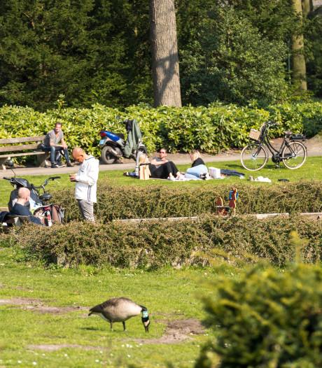 In beeld: parken in Eindhoven en Helmond goed bezocht tijdens eerste zonnige zaterdag in 'intelligente lockdown'