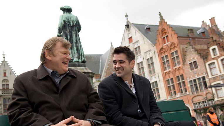 Brendan Gleeson en Colin Farrell in In Bruges. Beeld