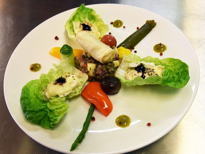 Een vegetarisch voorgerecht.