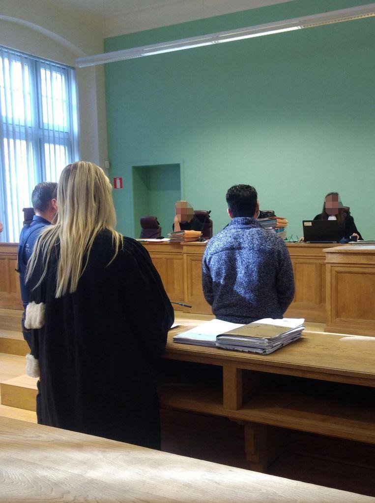 Erjon S. tijdens de behandeling van de zaak in oktober.