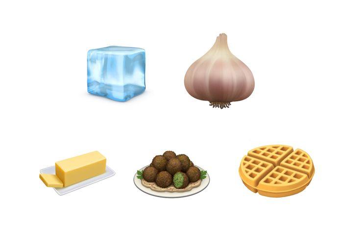 De nieuwe culinaire emoji's bij Apple.