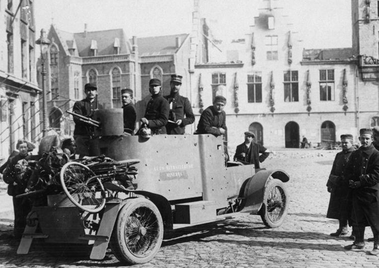 Een origineel beeld van de Minerva-pantserwagen zoals er ook een replica aan de evocatie zal deelnemen.