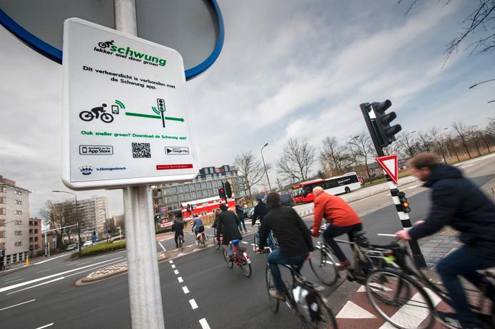 Ook in Den Bosch: sneller door 'groen' dankzij de app Schwung.
