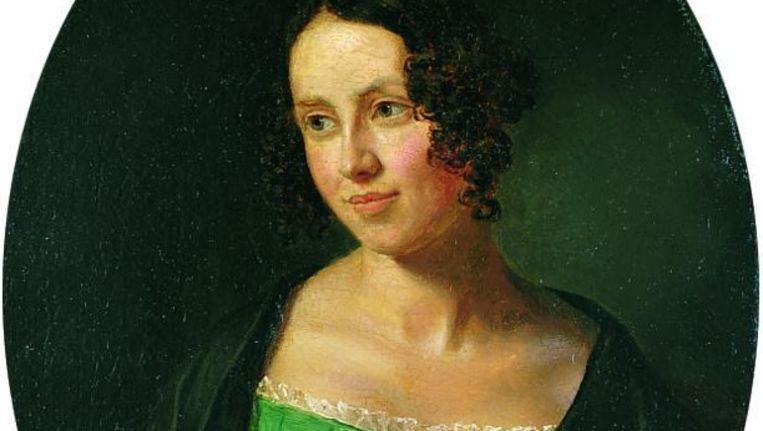 Regine Olsen in 1840, geschilderd door Emil Bærentzen. Beeld .