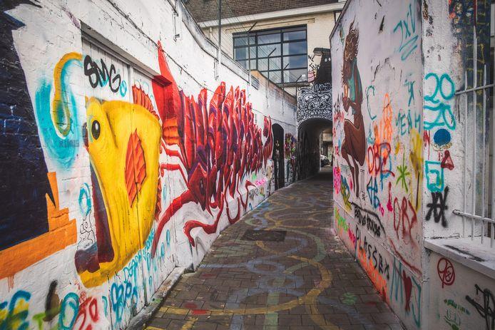 Het graffitistraatje van Gent.