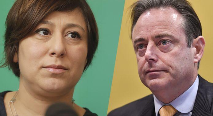 Meyrem Almaci et Bart De Wever.