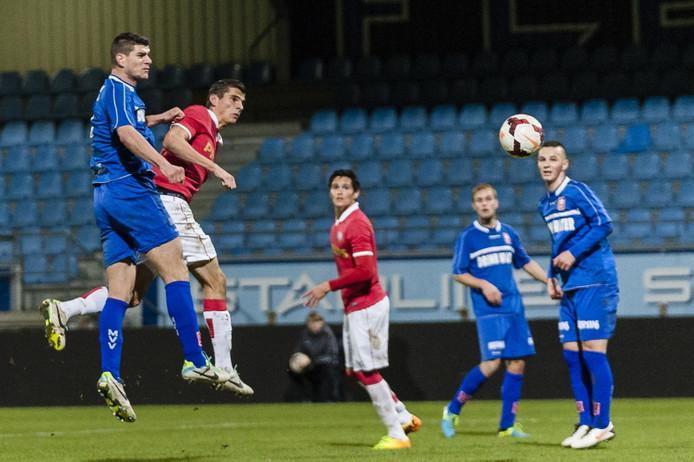 Beeld uit het troosteloze duel tussen Jong PSV en MVV.