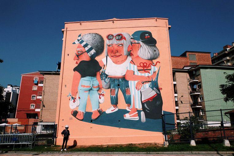 Een voorbeeld van een werk van Marina Capdevila. Deze kunstenaar zal de zijgevel van Tearoom Georges bewerken.