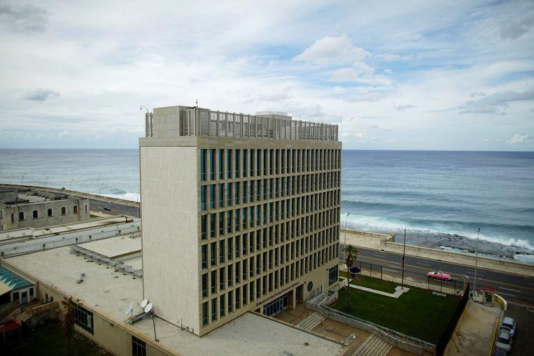 A view of the U.S. Embassy in Havana, Cuba, October 5, 2017. REUTERS/Alexandre Meneghini