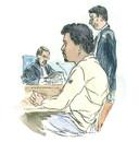 Rechtbanktekening van Julien C. uit 2007.