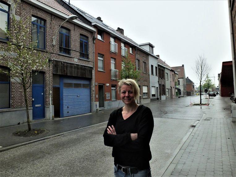 Katelijne De Corte bij de nieuwe thuisbasis van Platvvorm.