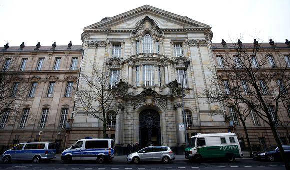 De rechtbank in Berlijn waar het proces plaatsvindt.