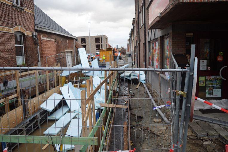 De ravage aan de bouwput is enorm groot.