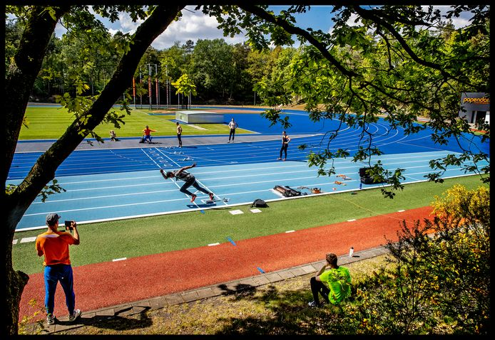 Op Papendal kunnen de atleten weer trainen.