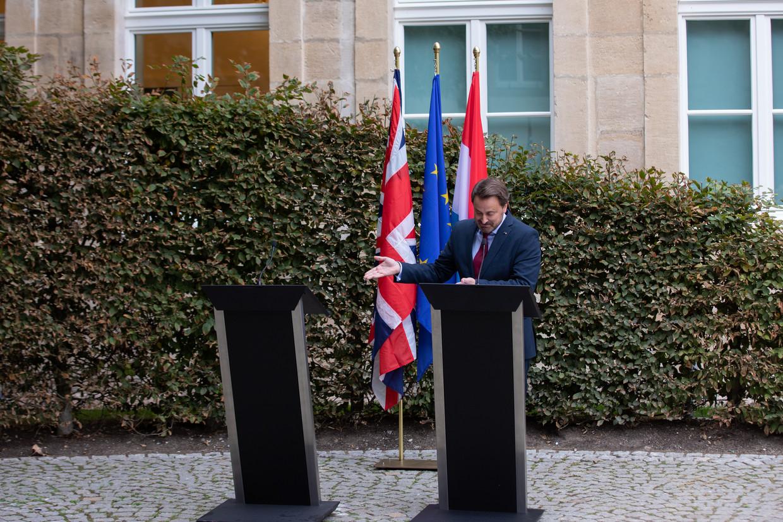 De Luxemburgse premier Xavier Bettel: 'Brexit is niet onze keuze. Het is een Britse keuze. Je kan de toekomst niet gijzelen door een partijpolitiek spelletje.'