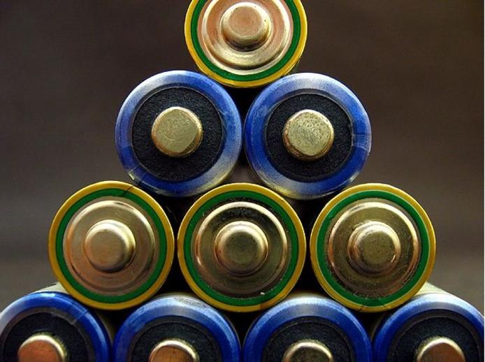 Batterijen.