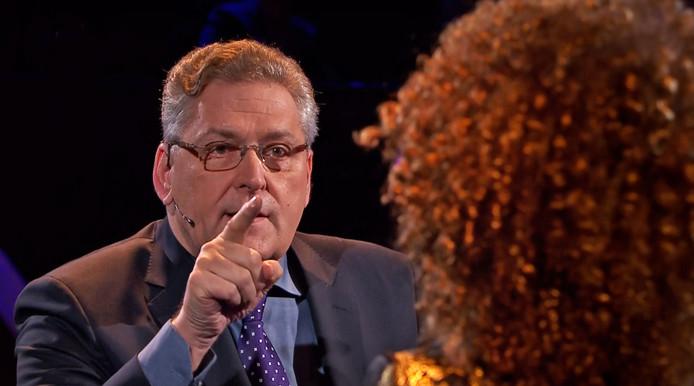 Henk Krol (50Plus) tijdens Carré debat tv beeld
