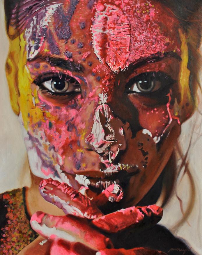 Een werk van de Spaanse schilder Jukka Mompo Madrigal.