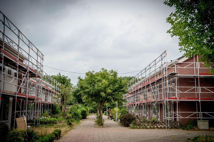 De renovatie van de PéGé-woningen in Wijchen in opdracht van Talis enkele jaren geleden.