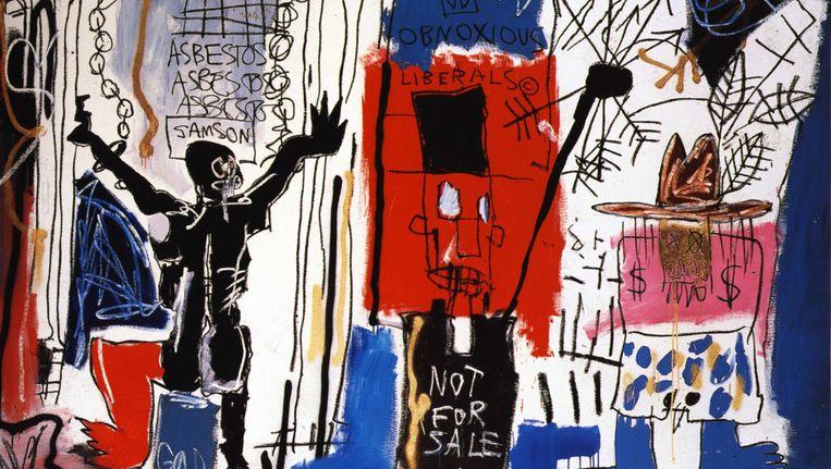 Vervelende vrijdenkers. Door Jean-Michel Basquiat, 1982. Te zien in The Broad, het museum in Los Angeles dat in september wordt geopend door voormalig huizenbouwer, verzekeraar en kunstmecenas Eli Broad. Beeld null