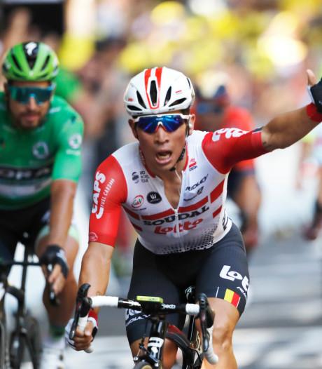 Ewan dolblij na eerste etappezege in Tour: 'Hier droomde ik als jongen van'