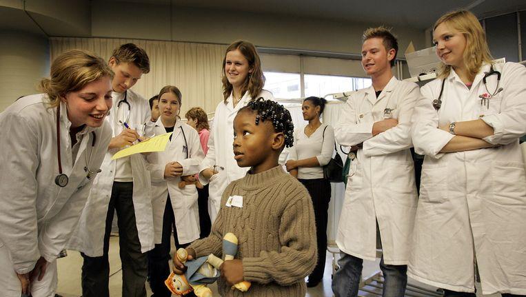 Geneeskundestudenten van de Erasmus Universiteit Beeld ANP