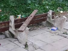 Vernielingen in Oscar van Hemelpark Bergen op Zoom
