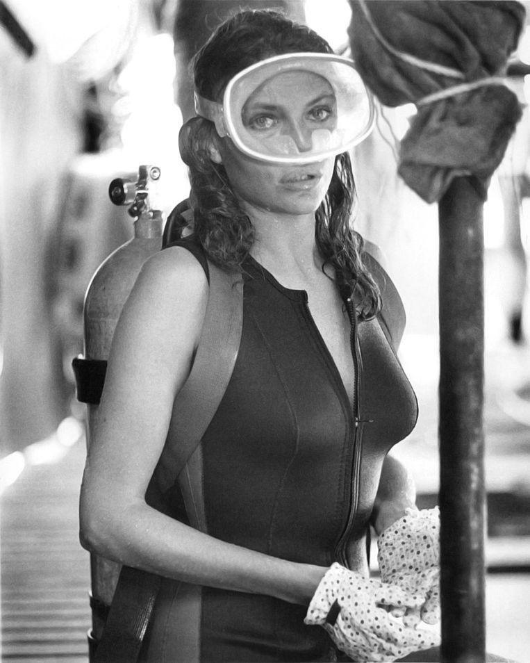 Actrice Jacqueline Bisset  als Gail Berke in The Deep. Beeld null