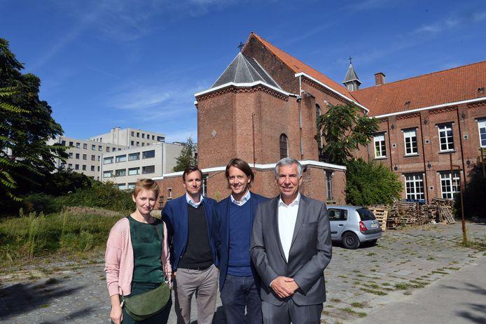 De voormalige Accosite heeft een gloednieuwe invulling. vlnr Karen Landuyt, Alexis Spaas, Sander Plets en Carl Devlies.