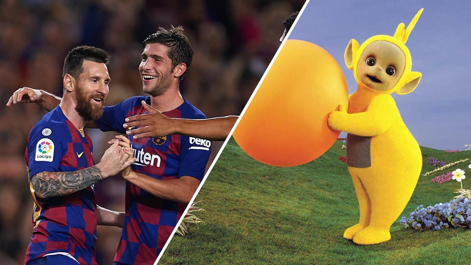 Teletubbies en FC Barcelona. Het vergelijkingsmateriaal van Johan Strouken