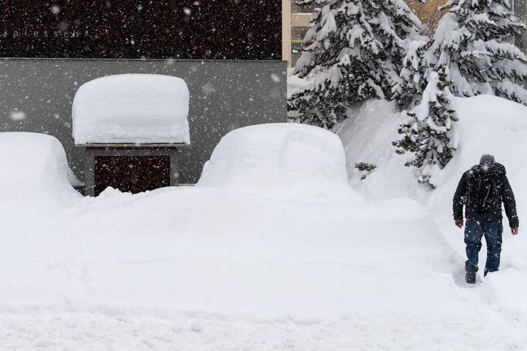 Ook dikke pakken sneeuw in Davos