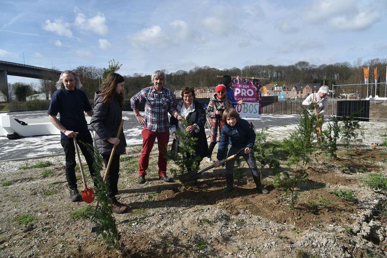 Bos aanplanting in Vilvoorde van pro
