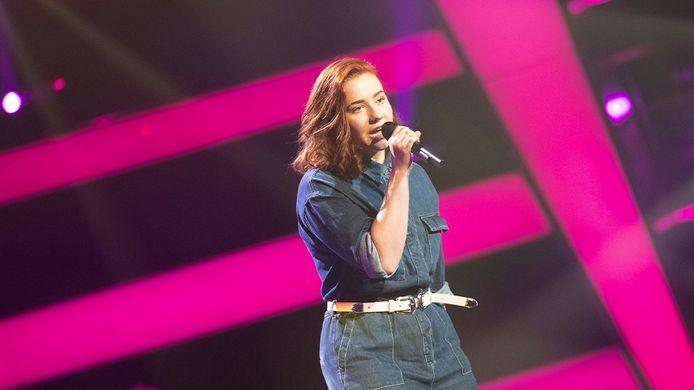 Zorah Lagerwerf tijdens haar optreden in The voice of Holland