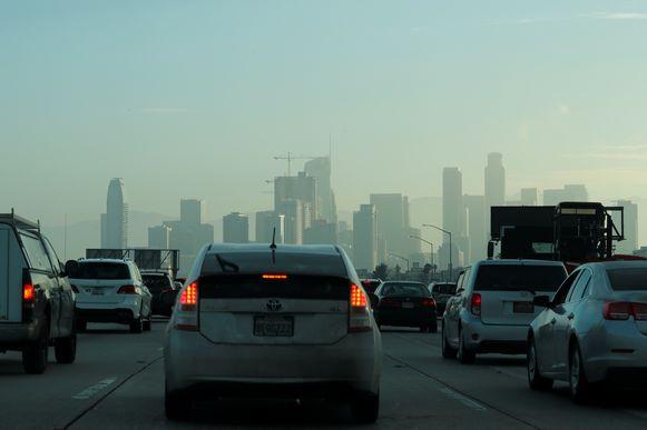 De ochtendspits in Los Angeles, Californië