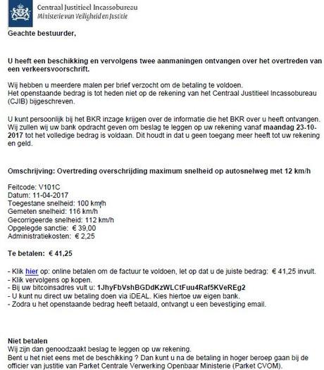 CJIB krijgt geld via phishing-mails