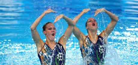 Zusjes De Brouwer achtste in finale EK synchroonzwemmen in Glasgow