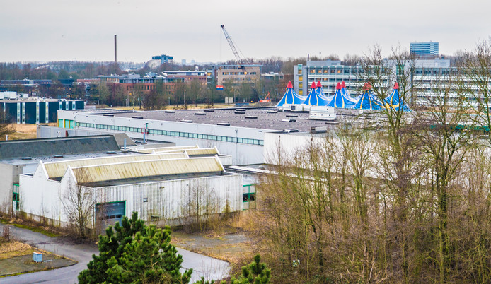 Zo zag de Schoemaker Plantage er een jaar geleden uit, mét de tenten van Winters Delft.